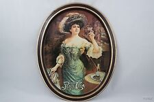 Pepsi Cola Victorian Lady Metal Tin Platter Tray Delicious Healthful 5 cents