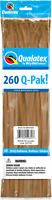 260Q MOCHA BROWN MODELLING BALLOONS PACK OF 50 BIRTHDAY PARTY SUPPLIES