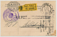 Österreich 1908 EXPRESS! Karte, K.K.POST UND TELEGRAFENAMT aus PRAG.