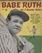 "Babe Ruth As i Knew Him Dell Magazine w/ 8""x10"" Print & Magazine Cut Out B2.3"
