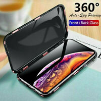 360 Protective Magnetic Shockproof Anti Spy Privacy Case For iPhone X XS MAX /XR