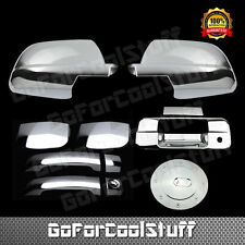 For TOYOTA TUNDRA 2007-13 Chrome 2 Door Handle F Mirror Tailgate Gas Cap Cover