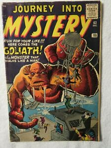 Journey Into Mystery Silver Age Comic # 63 Dec 1960