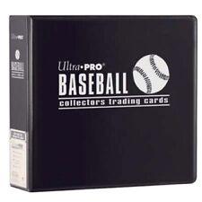 "1 Case 6 Ultra Pro 3"" Black Baseball Card Collector Storage Albums Binder D-ring"