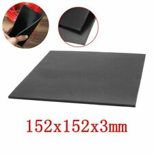 """1/9"""" Thick Black Rubber Sheet Chemical Resistance High Temperature 152x152x3mm"""
