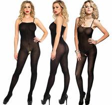 Black Opaque Bodystocking Bodysuit Leg Avenue