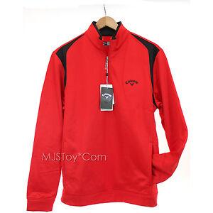 NWT CALLAWAY Golf Opti Series Fleece Men 1/4 Zip Pullover Warm Jacket Sweater