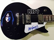 Ace Frehley KISS Signed Autographed Guitar w Playing Card Sketch Solo Face Art