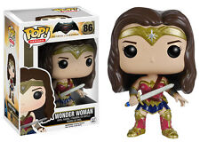 BATMAN V SUPERMAN/ FUNKO POP WONDER WOMAN 10 CM- VINIL FIGURE  #86 IN BOX 4""
