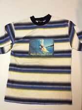 Vintage Bugle Boy Striped Medium 90s Surf Skate Shirt