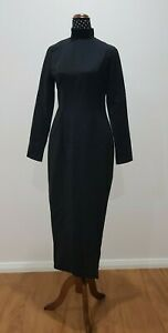 MOSSMAN The Time and Punishment Dress Black Size AU10 New With Tag