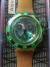 Uhr Original SWATCH Aqua Chrono SIRENA (SBK101)-NEU! groß! Neon-grün-40/19