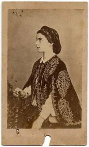 CDV Royalty Queen Naples Maria Sofia Borbone during her hexile in Paris 1870 S60
