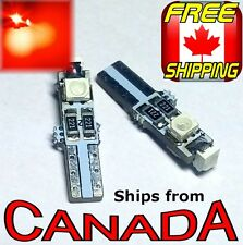 """TWO  RED  T5 / 74 Type LED CANbus """"Error Free"""" Bulbs  3x5050 chips 12v"""