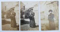 Snapshot Photos Woman Wearing Long Fur Coat Hand Muff Hat Vintage Fashion