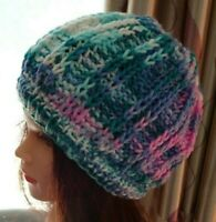 Hand Knitted Beanie Womens Hat Australia Made