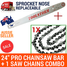 """24/25"""" TOOLSTORM Pro Chainsaw Bar &1chain for Stihl 3/8 063 84DL 066 MS660 MS390"""