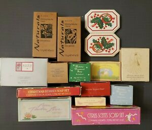 Vintage Avon Soap Bars Lot Of 15 and 4 Sachets