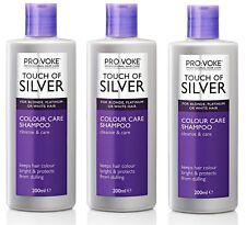 3x Provoke Touch of Silver Colour Care Shampoo 200ml