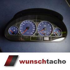 Tachoscheibe Tacho BMW E46 Blue Alpin 300Kmh Benziner Tacho muß Justiert werden