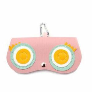Women Sunglasses Case Animal PU Leather Portable Eyeware Box Cute Protection Bag