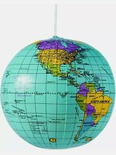 "Inflatable World Globe Beach Ball 9"" New"