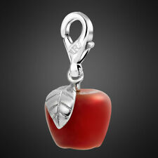 3D Fashion Red Agate Apple Shape Natural Stone Charms for Neckalce Chain