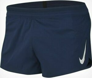 "Nike Aeroswift Men's Running Racing Shorts Navy/White 2"" AQ5257-410 Size XL"