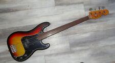 1976 Fender Precision Bass Fretless USA Sunburst