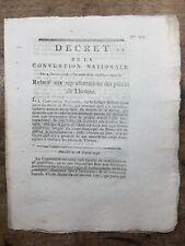 Théâtre 1793 Droits d'auteur l'ami des Lois Révolution Française Galand Blaux