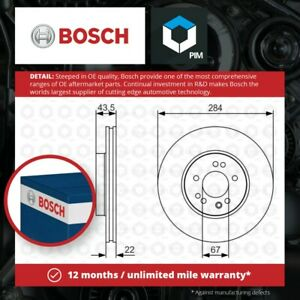 2x Brake Discs Pair Vented fits MERCEDES 300 Front 3.0 3.0D 85 to 93 284mm Set