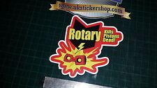1x Rotary Mata Pistones todo Color impreso Sticker Decal Funny Maza Rx8 Rx7