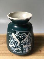 Original Hand Crafted ESKIMO POTTERY Vase EKLU CANADA Artist Signed '83