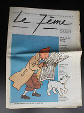 Journal Le 7ème Le soir 1993 Tintin BON ETAT