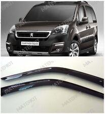 For Peugeot Partner 09-18 Window Visors Sun Rain Guard Vent Deflectors 2 pcs
