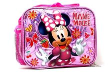 "NEW Disney Minnie Mouse Insulated 9.5"" Lunch Bag with Shoulder Strap"