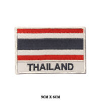 THAILAND National Flag Embroidered Patch Iron on Sew On Badge For Clothes etc