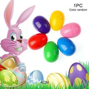 NEW 10X Plastic Filler Easter Eggs Fillable Egg Hollow Decoration Add Y9S3