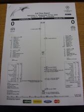 28/09/2005 Liverpool v Chelsea [Champions League] - Full Time Report (9 Pages).