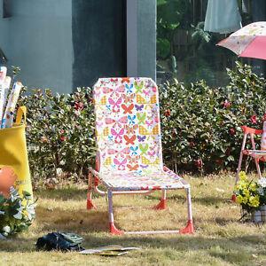Outsunny Kids Reclining Folding Garden Zero Gravity Chairs Sun Lounger Pink