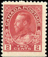 Mint NH Canada F BOOKLET SINGLE of Scott #106as 2c 1917-22 KGV Admiral Stamps