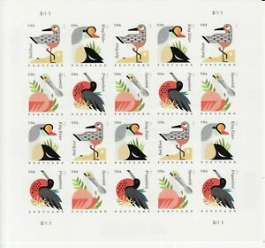 COASTAL BIRDS STAMP BOOKLET -- USA #4991-#4994 34 CENT POST CARD RATE