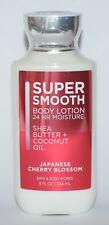 BATH & BODY WORKS JAPANESE CHERRY BLOSSOM SUPER SMOOTH LOTION CREAM SHEA 8 OZ