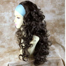 Wiwigs Curly 3/4 Fall Long Curly Layered Black,Blonde,Brown,Red Half Wig