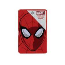 More details for spiderman 750-piece jigsaw puzzle web-shaped with tin