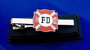 Fireman Tie Bar Firefighter Tie Clip Fire Shield Tie Gift Idea