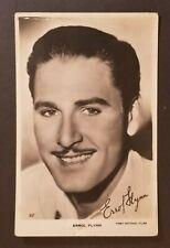 Mint Movie Star Errol Flynn Real Picture Photograph Postcard