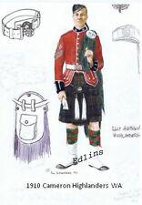 1910 Cameron Highlander WA postcard  - Phil Rutherford 1993