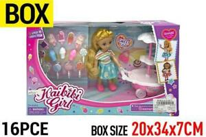 Sweet Car Doll Toy Set with 16 pcs accessories Age 3+ new year kids Gift 2 color