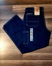 Carhartt NWT Washed Denim Work Dungaree 36x32 Jeans Original Fit Straight Leg 2